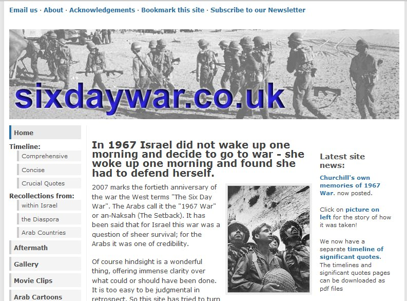 The Six Day War Website Provides A Historical Overview Of The Events Leading Up The Reunification Of Jerusalem And Capture Of Territories In 1967