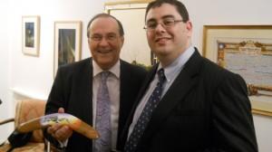 Amb Tzvi Rav Ner with Dr. Andre Oboler Oct 16 2012